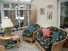 View of sunny conservatory
